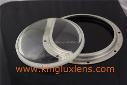 silicon gasket lens 130mm diameter wide angle 130 degree for floodlight