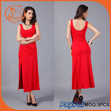 High quality new fashion dress special design red women dress