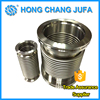 High efficiency 316 stainless steel bellows axial compensator