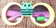 Animal Bee Shape Wayfarer Kids Funny Sunglasses