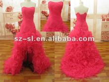 2012 Free Shipping Stylish Sexy Organza Ruffles Evening Dress/Prom Gown SL-9025