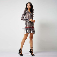 Fashion design colorful casual dress