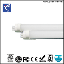 SMD LED tube light 2835 T8 LED tube 4 foot 18W 2000lm clear PC lens G13 bi pin power to single end