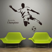 outdoor wall stickers art vinyl custom quotes we are the champions football wall stickers mural 3d wall stickers home decor