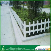 wooden garden fence with different color