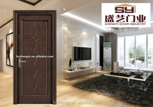 classcial PVC wood door designs for bedroom