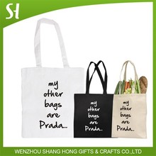 Lovely Funny My Other Bags Cotton Canvas Shopping Tote Shoulder Bag