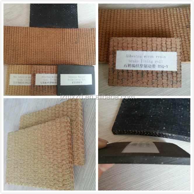 Woven Brake Lining Material : High quality best resin woven brake band linings