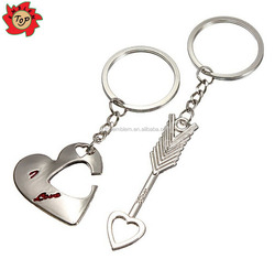 Custom Keychain Fashion Love Heart Key Ring Keyfob Couples Romantic Keychain Lover Gift for Wedding Gifts Souvenir