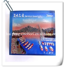Hot sale custom ceramic 3d fridge magnets for souvenir