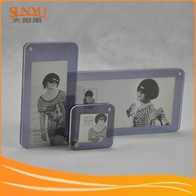Customize Ddifferent Size Magnetic Acrylic Photo Frame Display stand/Perspex Picture Holder