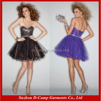 OD-471 Sexy short tulle dress designs for young girls in short dress
