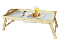 new products 100% handmake wooden folding breakfast bed tray