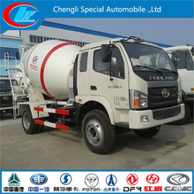 ISO standard high qualitly Foton 4x2 agitating lorry mixer truck for sale