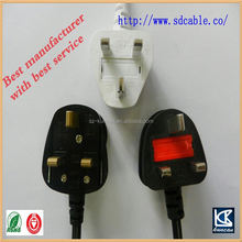 uk AC power cable uk power cord with socket uk plug power cord with hand switch