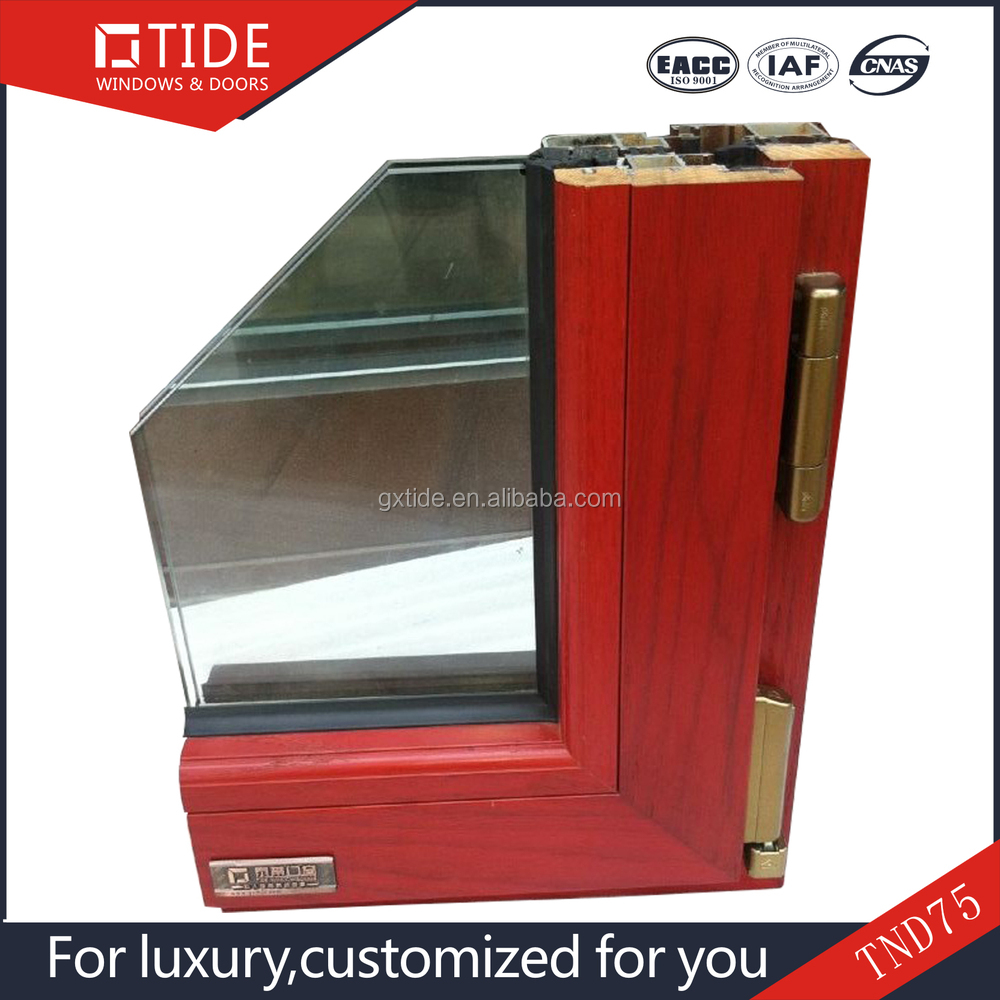 Solid Wood Window Aluminum And Wood Window Frame For Sale