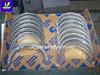 kubota main bearing, engine spare parts con rod bearing, V3600 crankshaft bearing