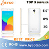 Factory sales 3g wifi dual sim android phone 5.0inch Screen