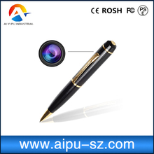 Mini Cam HD Video DVR Recorder Video Hidden Camera Gold Spy Pen