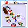 Round shape Customized Printing Colorful Christmas Sticker,Gift Label