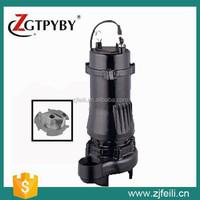 vertical water pump WQK cutting sewage pump cast iron silent water pump