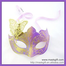 Unique Fashion Italy venetian style party mask,masquerade mask,face mask--Purple/gold