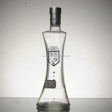 wholesale Anti-fake cap finished 500ml glass liquor bottles