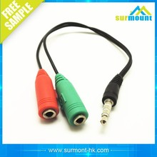 3.5mm One Divided Into Two Universal Audio Line Couple Audio Cable