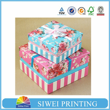 2015 Made in China GuangZhou Factory Luxury Custom Made Gift Packaging window paper box for valentine's day