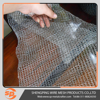 0.3mm Wire Diameter Stainless Steel Standard Type Knitted Wire Mesh