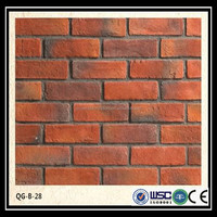 High quality light weight waterproof exterior rustic decorative brick for wall cladding