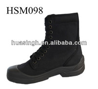 JY,breathable rip-stop black canvas upper split resistant tactical boots for army battle