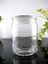 lovely decorative glass storage herb jar , empty jar