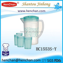 1.8L plastic water pitcher with ice tube for promotion
