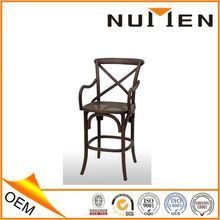 New design solid oak wood Wooden bar stool