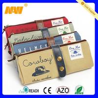 Novelty Retro Folding Canvas Zipper Pencil Case School and Office pen bag holder