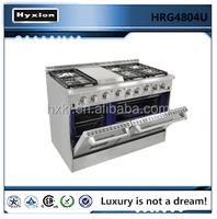 2015 Hot sale restaurant kitchen appliances 6 burners gas stove