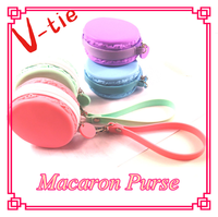 Advertising gadgets Macaron Colored custom personalized coin purse