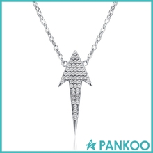 Fashion Jewelry 925 Sterling Silver Diamond Arrowhead Pendant