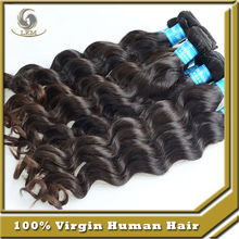 Tangle & Shedding free Authentic 100% Brazilian virgin hair weave Natural color Unprocessed natural wave hair for sale