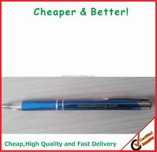 Logo printing/engrave Aluminum material metal pen