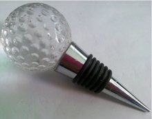 OEM alloy crystal cork wedding anniversary gift party decoration silicone golf ball champagne wine stoppers