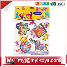Meiyijia Direct selling plastic toys intellect ironing beads diy perler bead pegboard easter egg patterns BT-0056B