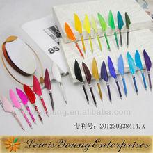 Logo feather pen,goose quill feather pen mini feather pen