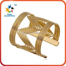 simple noble bangle designs fashion fake gold tube bangle bracelets
