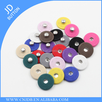 wholesale colorful fashion fabric covered hidden press metal snap button for coat