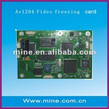 Promotion vga freeze card with 4 images display sametime