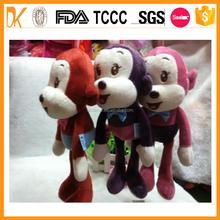 New materail 100% cotton promotional plush monkey toy