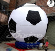 Factory price big Inflatable hot air balloon shaped football balloon for sale