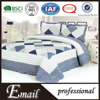 Hot sale korean bedding set/ plaid patchwork bedspread quilt sets